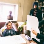 """25.06.2017 / 2 мастер-класса """"Работаем цветом"""" в Библиотеке им. Лихачева"""