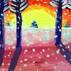 """25.01.2018 / Мастер-класс """"Морозное утро"""" в Библиотеке им. Лихачева"""