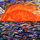 """13.07.2017 / Мастер-класс """"Закат на море"""" в Библиотеке Удельнинской"""