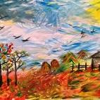 """07.09.2017 / Мастер-класс """"Осень"""" в Библиотеке Удельнинской"""