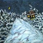 """21.09.2017 / Мастер-класс """"Зимняя ночь"""" в Библиотеке Удельнинской"""