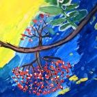 """05.10.2017 / Мастер-класс """"Рябинка"""" в Библиотеке Удельнинской"""