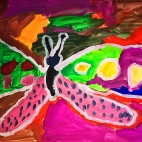 """12.10.2017 / Мастер-класс """"Бабочка"""" в Библиотеке Удельнинской"""