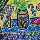 """23.08.2018 / Тема """"Декоративный натюрморт"""" в Библиотеке Удельнинской"""