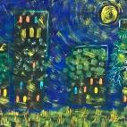"""Группа №2 / 08.11.2018 / Тема """"Лунная ночь в городе"""" в Библиотеке Удельнинской"""