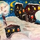"""20.09.2017 / Мастер-класс """"Зимняя ночь"""" в Библиотеке """"Своя"""""""