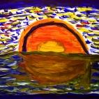 "21.07.2017 / Мастер-класс ""Закат на море"" в Библиотеке Батенинской"
