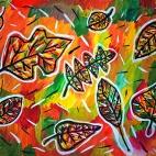 """10.11.2017 / Мастер-класс """"Осенние листья"""" в Библиотеке Батенинской"""