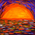 """27.07.2017 / Мастер-класс """"Закат на море"""" в Библиоцентре детского чтения"""