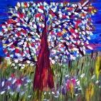 """03.08.2017 / Мастер-класс """"Цветущее дерево"""" в Библиоцентре детского чтения"""